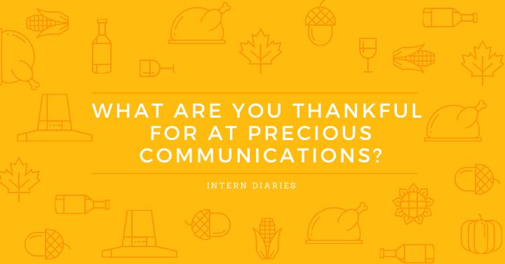 Intern Diaries: PRecious Communications